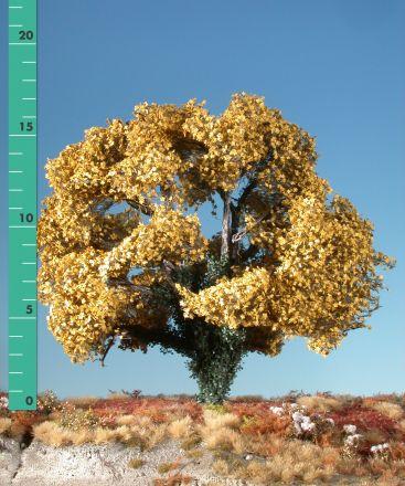 Silhouette Esdoorn met klimop begroeiing - Late herfst (geel) - 2 (ca. 15-20cm) - H0 (1:87) - (231-24)