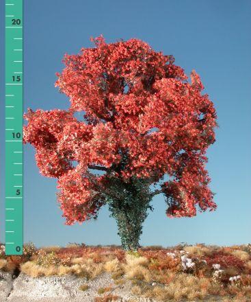 Silhouette Esdoorn met klimop begroeiing - Late herfst (rood) - 2 (ca. 15-20cm) - H0 (1:87) - (231-25)