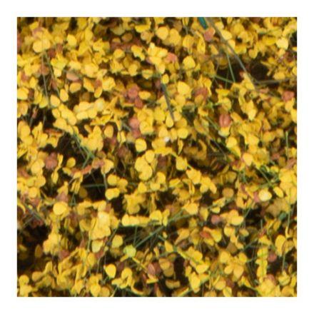 Silhouette Struiken / heggen - late herfst geel - 12 x 14 cm - (250-44)