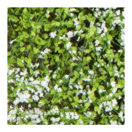 Silhouette Struiken / heggen - wit bloeiend - 12 x 14 cm - (250-45)