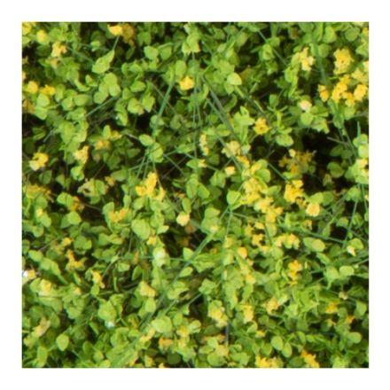 Silhouette Struiken / heggen - bloeiend geel - 12 x 14 cm - (250-46)