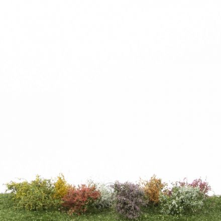 Silhouette Struiken assortiment, Profiline - Bloeiend -  ca. 3cm - H0 (1:87) - (252-05)