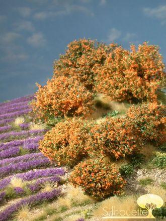 Silhouette Rhododendron - Oranje - 0 (< ca. 8cm) - H0 (1:87) - (253-03)