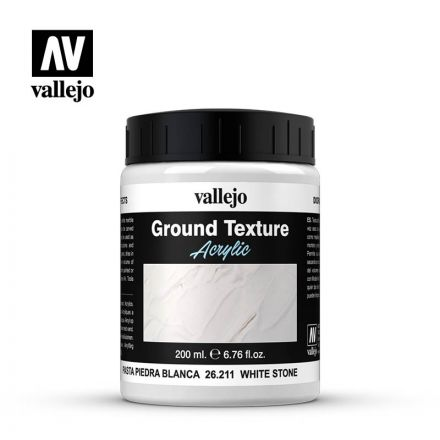 Vallejo Texture Paste - White Stone - 200 ml - (26.211)