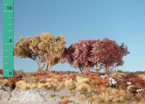 Silhouette Lage struiken - Late herfst - ca. 8cm - 0-1 (1:45+) - (350-04)