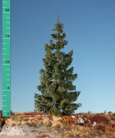 Silhouette Groene spar - Zomer - ca. 42cm - 0-1 (1:45+) - (373-42)