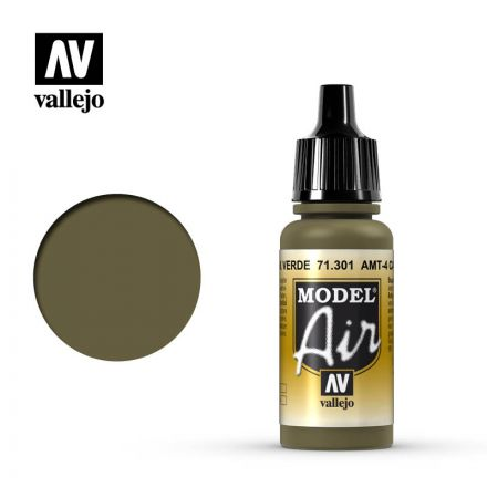 Vallejo Model Air - AMT-4 Camoufl age Green - 17 ml - (71.301)