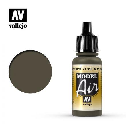 Vallejo Model Air - N. 41 Dark Olive Drab - 17 ml - (71.316)