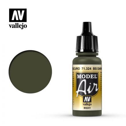 Vallejo Model Air - BS Dark Green - 17 ml - (71.324)