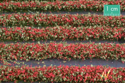 miniNatur Bloesem strepen - Rood - ca. 336cm - H0 (1:87) - (731-23)