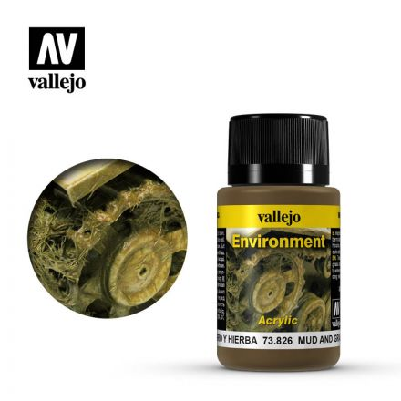 Vallejo Weathering Effects - Mud and Grass Effect - 40 ml - (73.826)