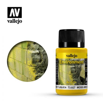 Vallejo Weathering Effects - Moss and Lichen Effect - 40 ml - (73.827)