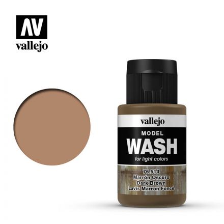 Vallejo Model Wash - Dark Brown - 35 ml - (76.514)
