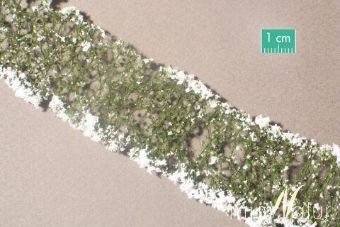 miniNatur Bloemen - Wit  - ca. 4 x 7,5 cm - H0 (1:87) - (998-21MS)