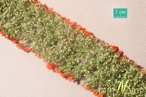 miniNatur Bloemen - Rood - ca. 4 x 7,5 cm - H0 (1:87) - (998-23MS)